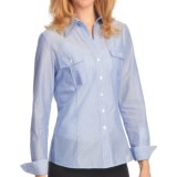 Lafayette 148 New York Watermill Stripe Shirt - Long Sleeve (For Women)