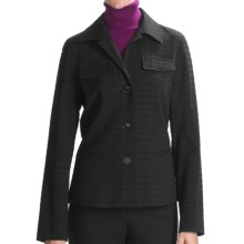 Lafayette 148 New York Wendy Bengal Jacket - Jacquard (For Women) in Tar - Closeouts