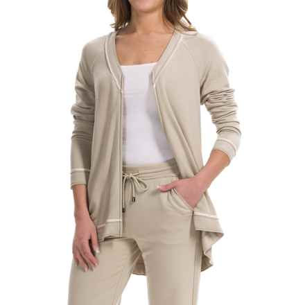 Lafayette 148 New York Zip-Front Cardigan Sweater (For Women) in Khaki - Closeouts