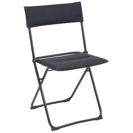 Lafuma Air Comfort Balcony Padded Folding Chair in Acier/Noir - Closeouts
