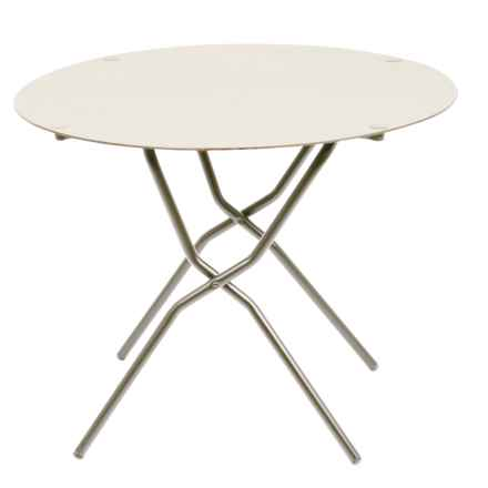Lafuma Anytime Round Folding Table in Papyrus - Closeouts