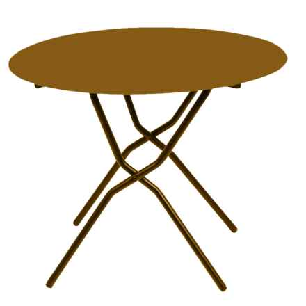 Lafuma Anytime Round Folding Table in Stone - Closeouts