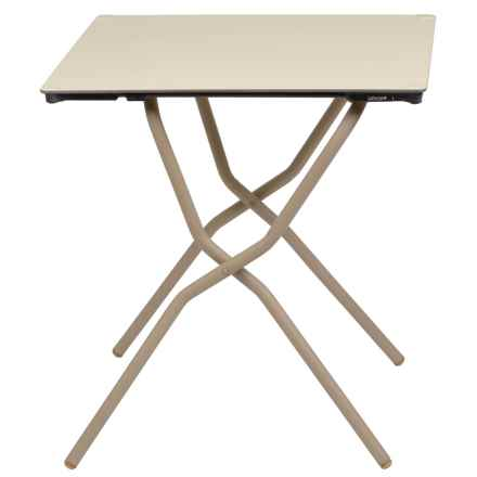 Lafuma Anytime Square Folding Table in Papyrus/Sable - Closeouts
