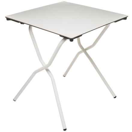 Lafuma Anytime Square Folding Table in White - Closeouts