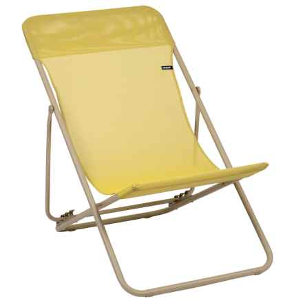 Lafuma Maxi Transat Folding Sling Chair in Champagne/Sable - Closeouts