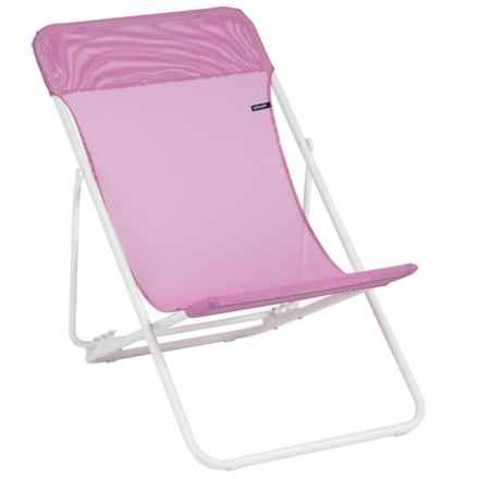 Lafuma Maxi Transat Folding Sling Chair - Set of 2 in Lilas/Blanc - Closeouts
