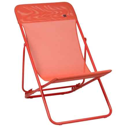 Lafuma Maxi Transat Lounge Chair - Set of 2 in Aurore/Rouge - Closeouts