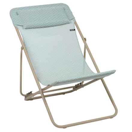 Lafuma Maxi Transat Plus Privilege Folding Sling Chair - Set of 2 in Celadon/Sable - Closeouts