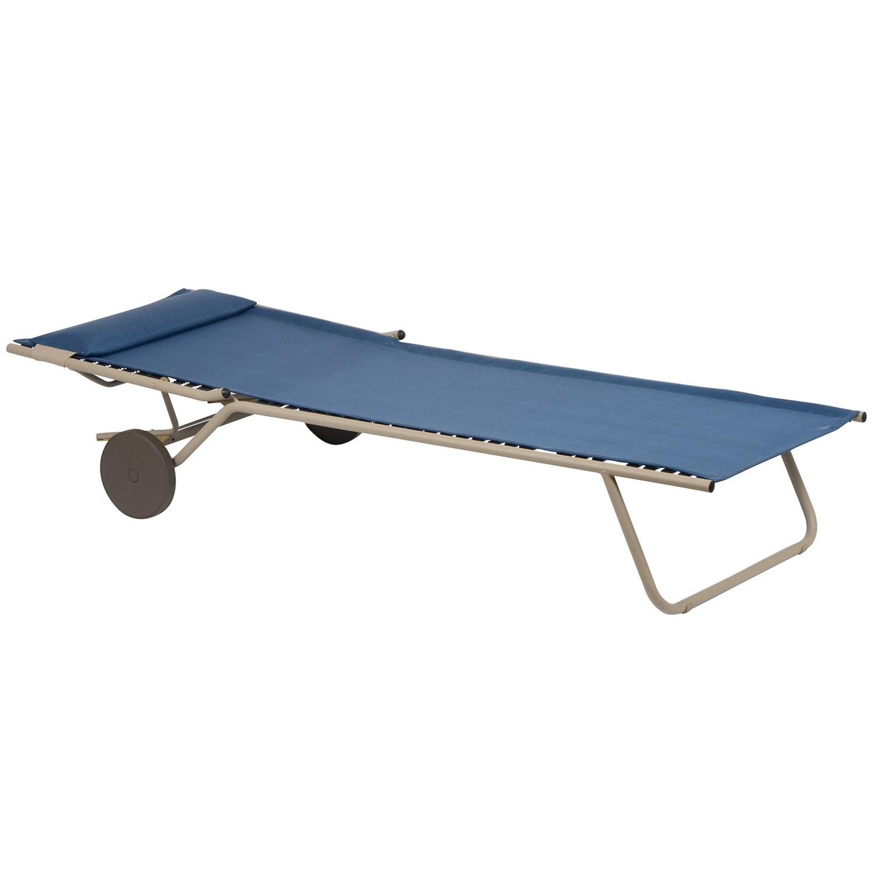 Lafuma miami sun bed folding chaise lounge chair save 64 - Chaise camping lafuma ...
