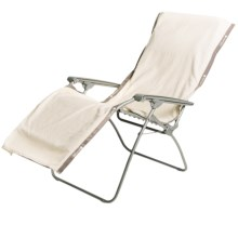 "Lafuma RSX XL Chair Towel - 72x26"" in Ecru Cream - Closeouts"