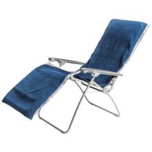 "Lafuma RSX XL Chair Towel - 74x27"" in Bleu Ocean - Closeouts"