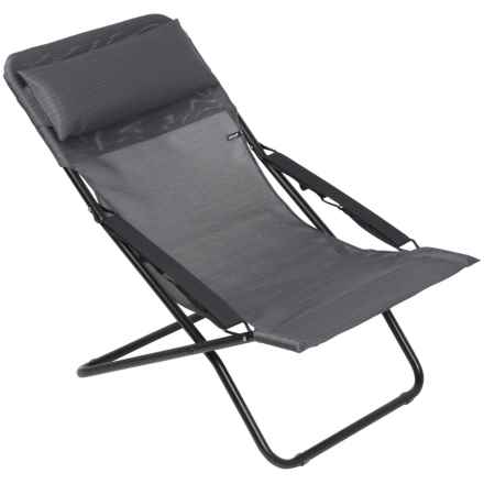 Lafuma Transabed XL Beach Chair in Obsidian/Noir - Closeouts