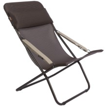 Lafuma Transabed XL Folding Lounge Chair - Batyline® in Mocha/Marron Brown Frame - Closeouts