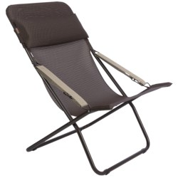 Lafuma Transabed XL Folding Lounge Chair - Batyline® in Mocha/Marron Brown Frame