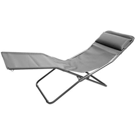 Lafuma Transalounge Folding Recliner Chair in Carbon/Grey