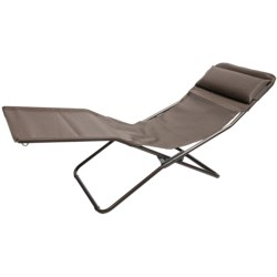 Lafuma Transalounge Folding Recliner Chair in Moka/Marron Brown