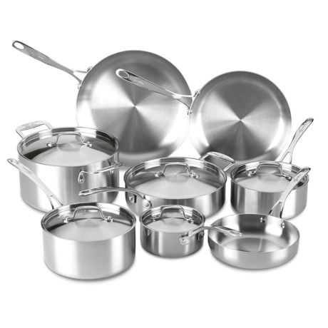 Lagostina Axia Tri-Ply Stainless Steel Cookware Set - 13-Piece in Stainless Steel
