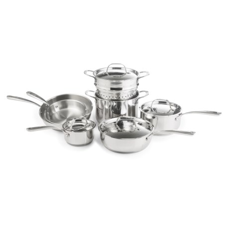 Lagostina Luminosa Stainless Steel Cookware Set - 11-Piece in Stainless Steel
