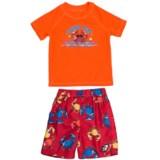 Laguna Crabbie Shirt and Boardshorts Set - UPF 50, 2-Piece, Short Sleeve (For Toddler Boys)
