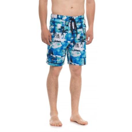 Laguna Paradise Stretch Boardshorts - UPF 50 (For Men) in Blue Combo