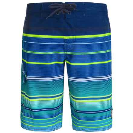 Laguna Point Break Boardshorts - UPF 50, Built-In Mesh Briefs (For Big Boys) in Peacoat - Closeouts