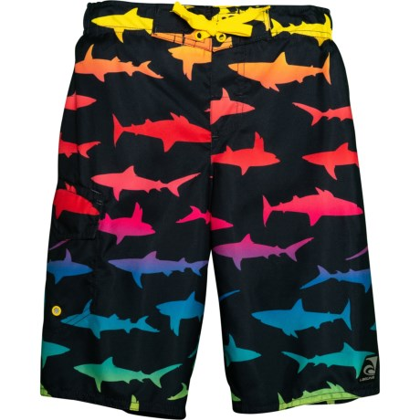 56388839a6 Laguna Rainbow Sharks Swim Trunks - UPF 50, Built-In Brief (For Little. Tap  to expand