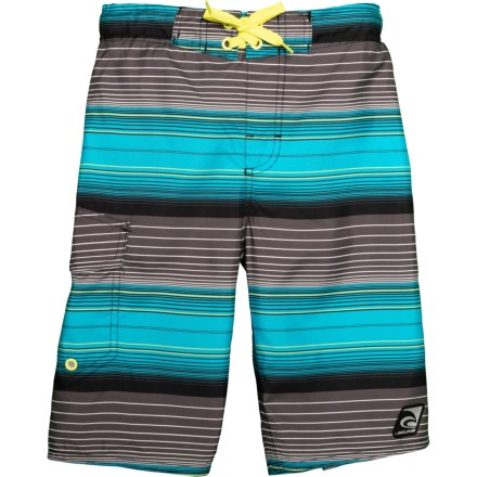 2698a2eac3 Summer is Back Swim Trunks - UPF 50, Built-In Brief (For Little