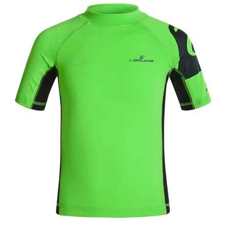Laguna Swell Shoulder Rash Guard - UPF 50, Short Sleeve (For Big Boys) in Brite Green - Closeouts