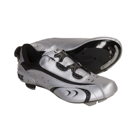 Lake Cycling CX170 Road Cycling Shoes - 3-Hole (For Women) in Silver/Black