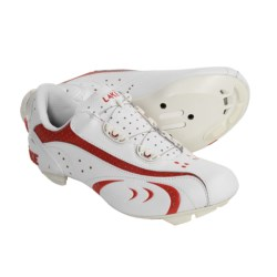 Lake Cycling CX170 Road Cycling Shoes - 3-Hole (For Women) in White/Red