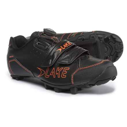 Lake Cycling MX228 Mountain Bike Shoes - SPD (For Men) in Black/Orange - Closeouts