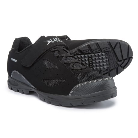 Lake Cycling MX80 Mountain Bike Shoes - SPD (For Men) in Black/Silver