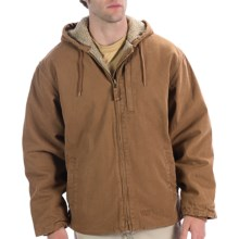 Lakin McKey Berber Lined Jacket - Hooded (For Men) in Dark Khaki - Closeouts