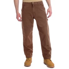 Lakin Mckey Canvas Duck Dungaree Work Pants - Flannel-Lined, Relaxed Fit (For Men) in Dark Khaki - Closeouts