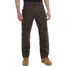 Lakin Mckey Canvas Duck Dungaree Work Pants - Relaxed Fit (For Men) in Dark Brown - Closeouts