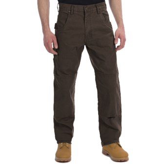 Lakin Mckey Canvas Duck Dungaree Work Pants - Relaxed Fit (For Men) in Dark Brown