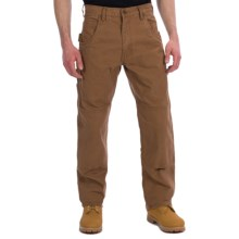Lakin Mckey Canvas Duck Dungaree Work Pants - Relaxed Fit (For Men) in Dark Khaki - Closeouts
