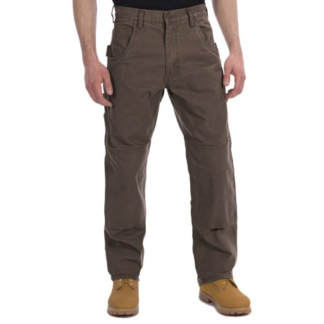Lakin Mckey Canvas Duck Dungaree Work Pants - Relaxed Fit (For Men) in Brown