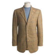 Lambourne Action Back Jacket - Mini Check, Lambswool (For Men) in Tan/Khaki - Closeouts