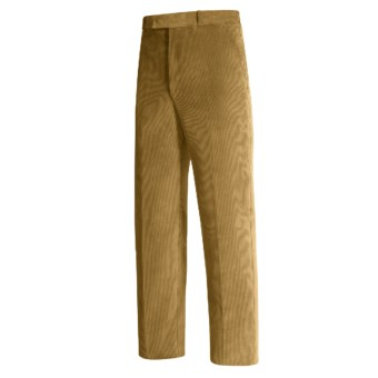 Lambourne English Corduroy Pants - Robust, Flat Front (For Men) in Fawn