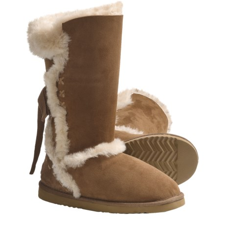 Lamo Big Bear Sheepskin Boots - Shearling Lining (For Women) in Chestnut