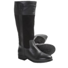 Lamo Brittany Tall Boots - Suede-Leather, Sheepskin-Lined (For Women) in Black - Closeouts