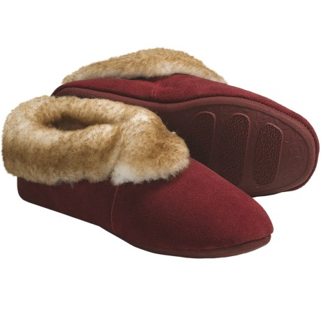 LAMO Carmen Sheepskin Slippers - Suede (For Women) in Red