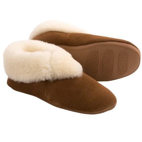 LAMO Carmen Sheepskin Slippers - Suede (For Women) in Chestnut