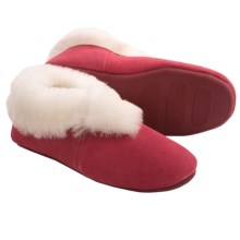 LAMO Carmen Sheepskin Slippers - Suede (For Women) in Red - Closeouts