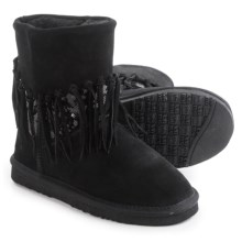 LAMO Footwear Alpine Fringed Boots - Suede (For Women) in Black - Closeouts