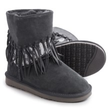 LAMO Footwear Alpine Fringed Boots - Suede (For Women) in Charcoal - Closeouts
