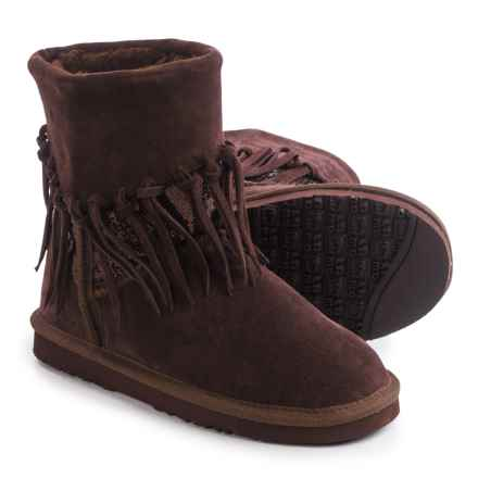 LAMO Footwear Alpine Fringed Boots - Suede (For Women) in Chocolate - Closeouts