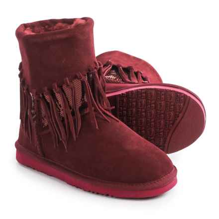 LAMO Footwear Alpine Fringed Boots - Suede (For Women) in Red - Closeouts
