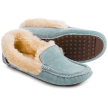 LAMO Footwear Aussie Moccasins - Suede, Faux-Fur Lined (For Women) in Blue - Closeouts